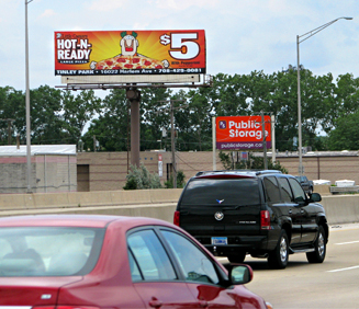 Location # 52: I-294 @ 127th St. and Cicero Ave. exit, West line, Facing South